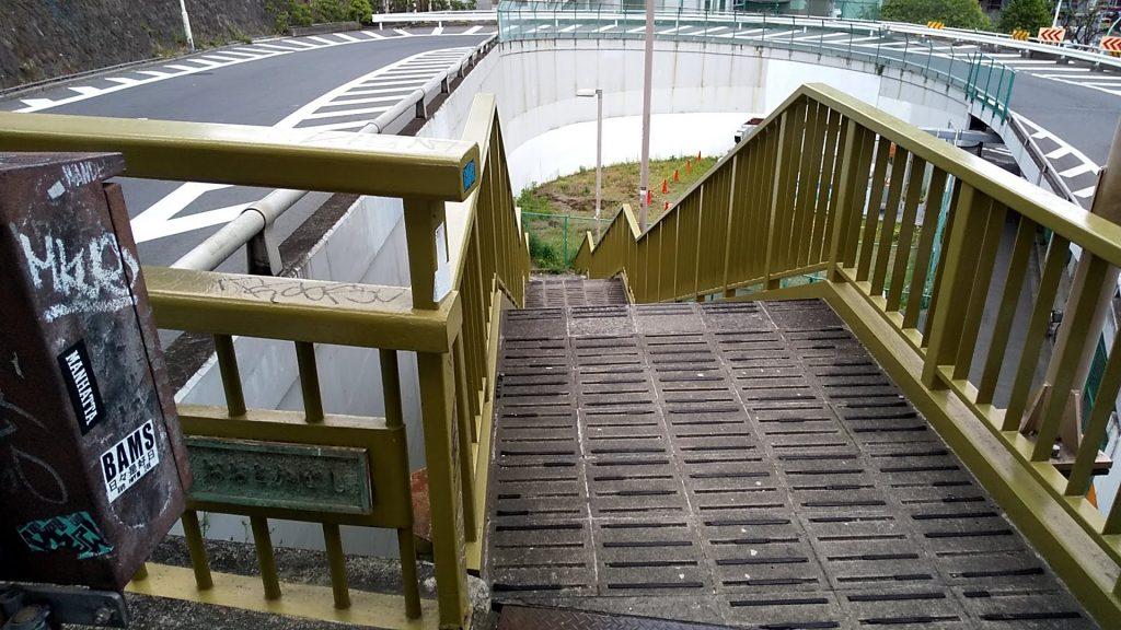 池尻大橋駅付近の歩道橋からの景色