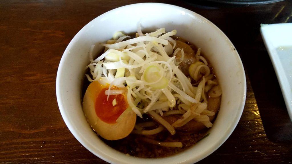 七菜矢のつけ麺のアレンジ