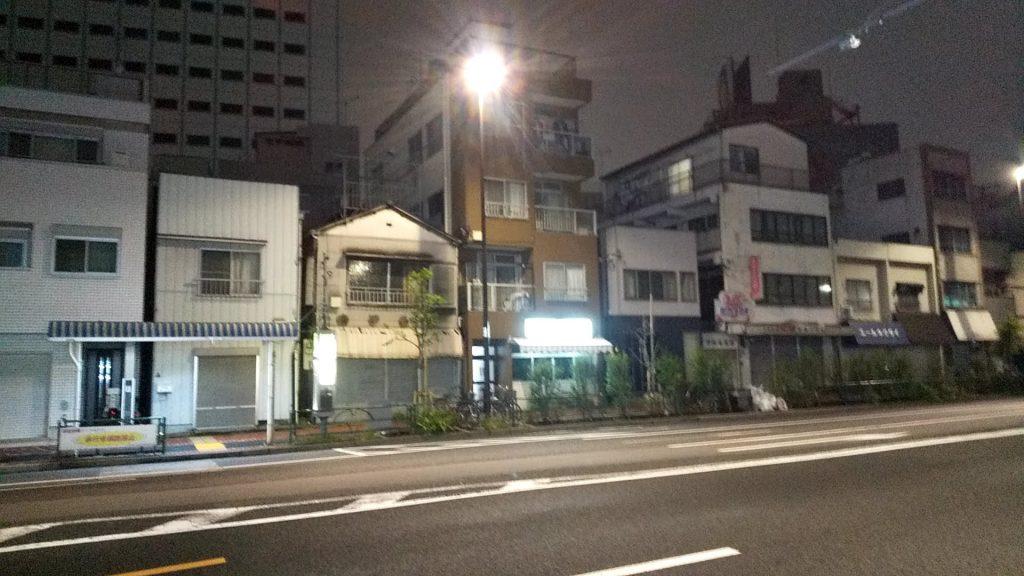 夜の三ツ目街道