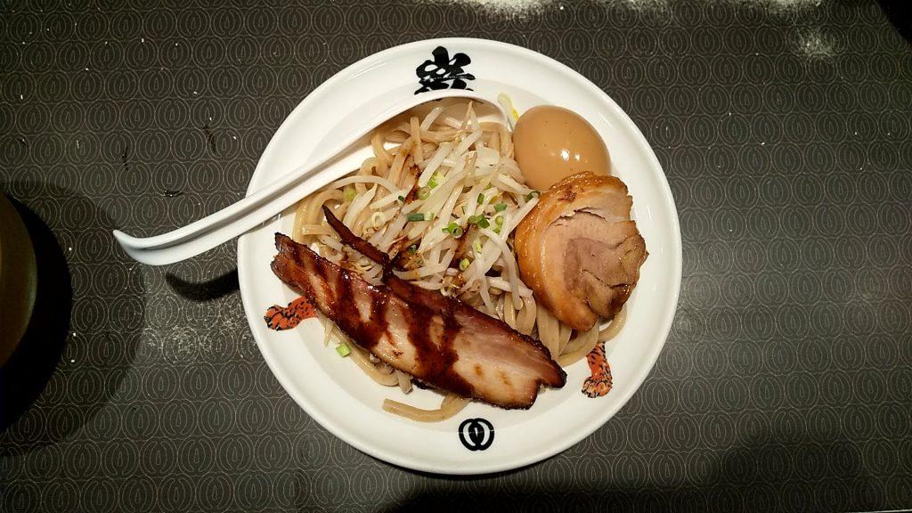 麺屋武蔵巌虎の巌虎濃厚つけ麺の麺皿