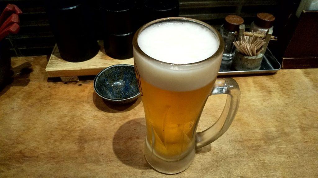 極や神保町店の生ビール