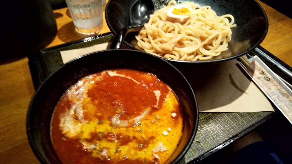 麺匠竹虎本店のトマトつけ麺