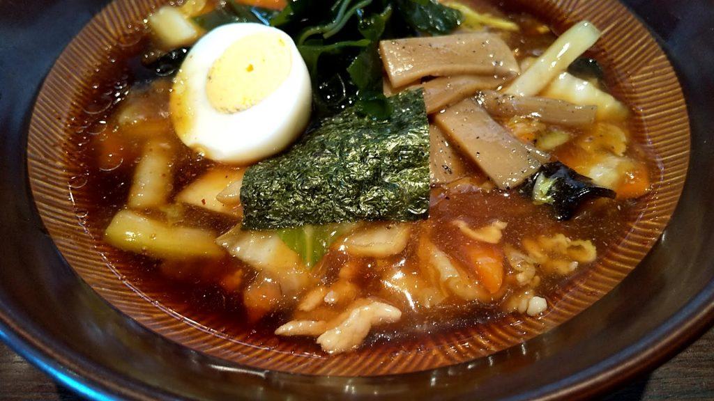 桂林のつけ麺のスープ割り