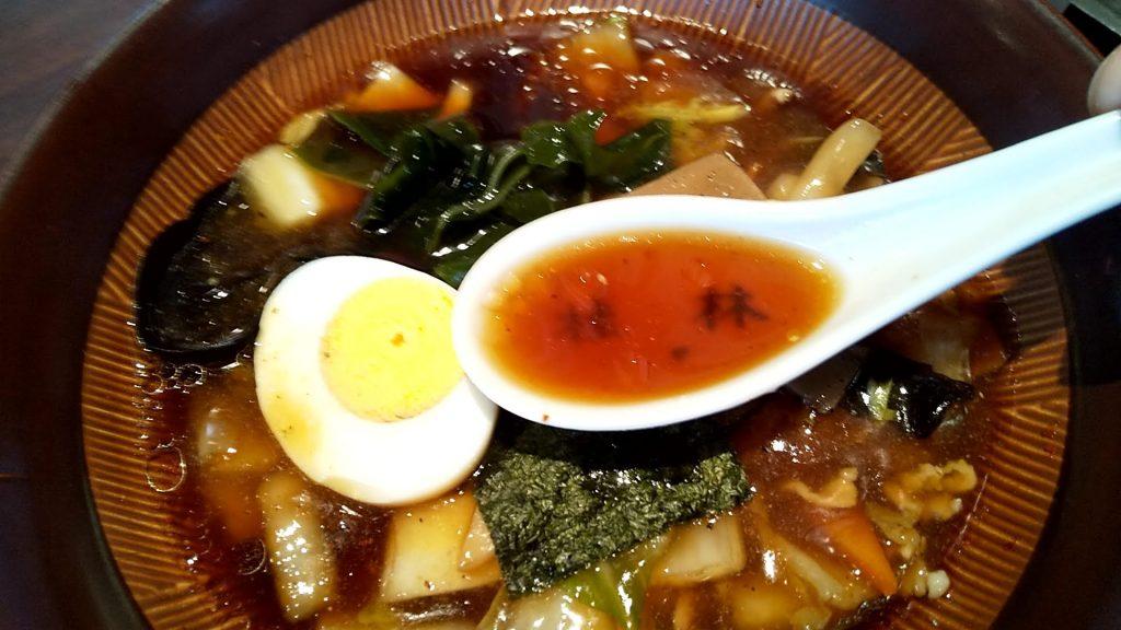 桂林のつけ麺のつけ汁のとろみ