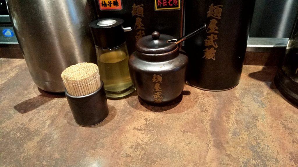 麺屋武蔵武骨外伝の卓上