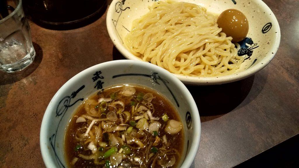 麺屋武蔵武骨外伝の冷やし味玉つけ麺