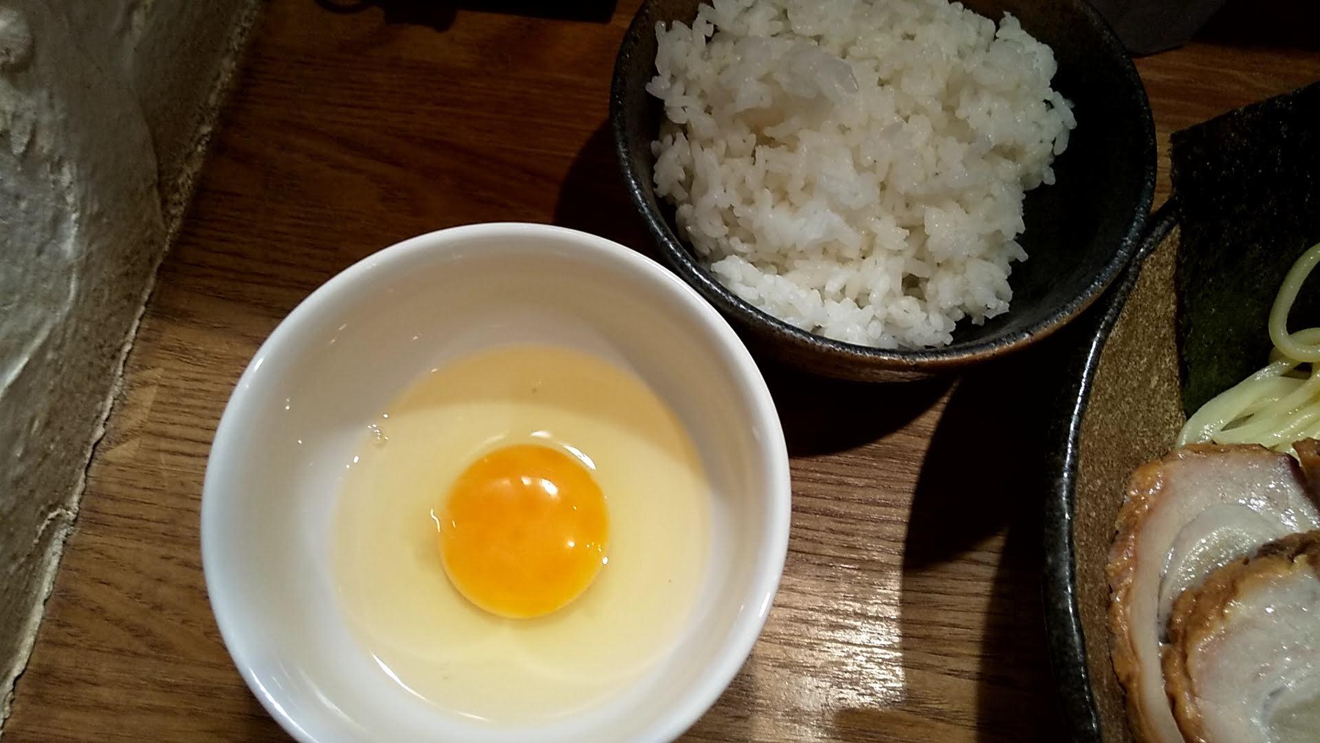 麺屋ぬかじの卵かけご飯