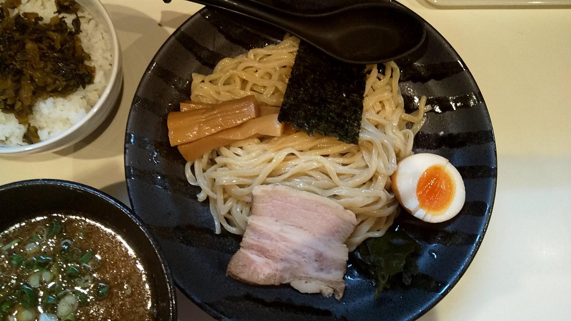 鶏豚の特製つけ麺の麺皿