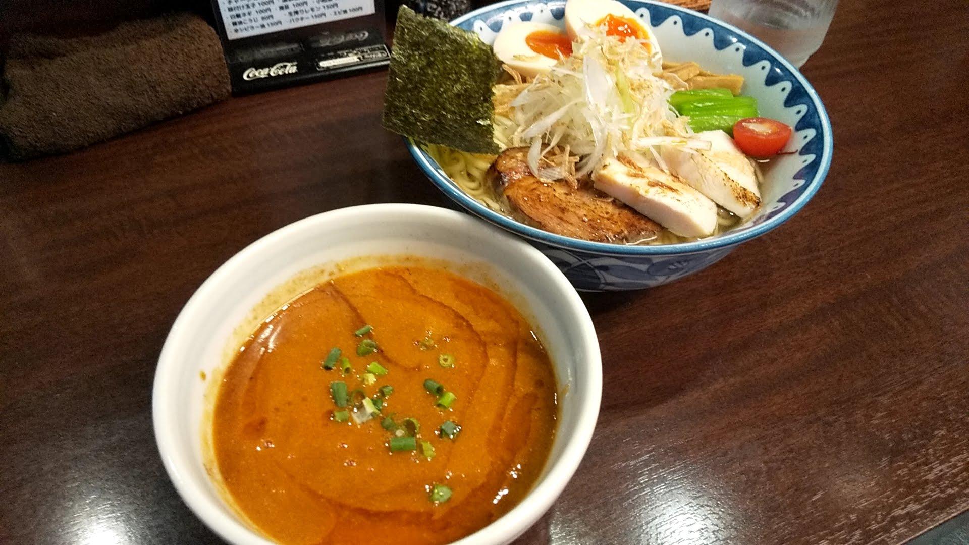 ガンコンヌードルのエビつけ麺