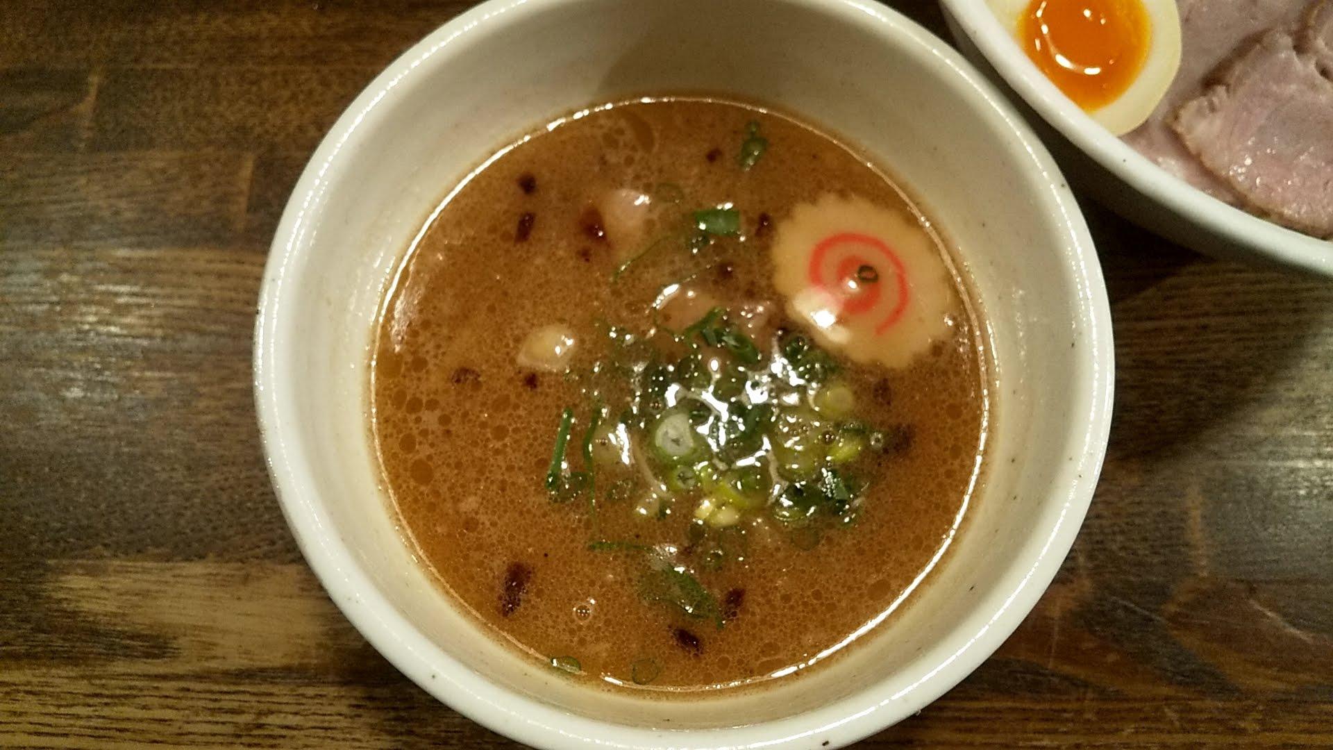 藤しろの特製つけ麺のつけ汁