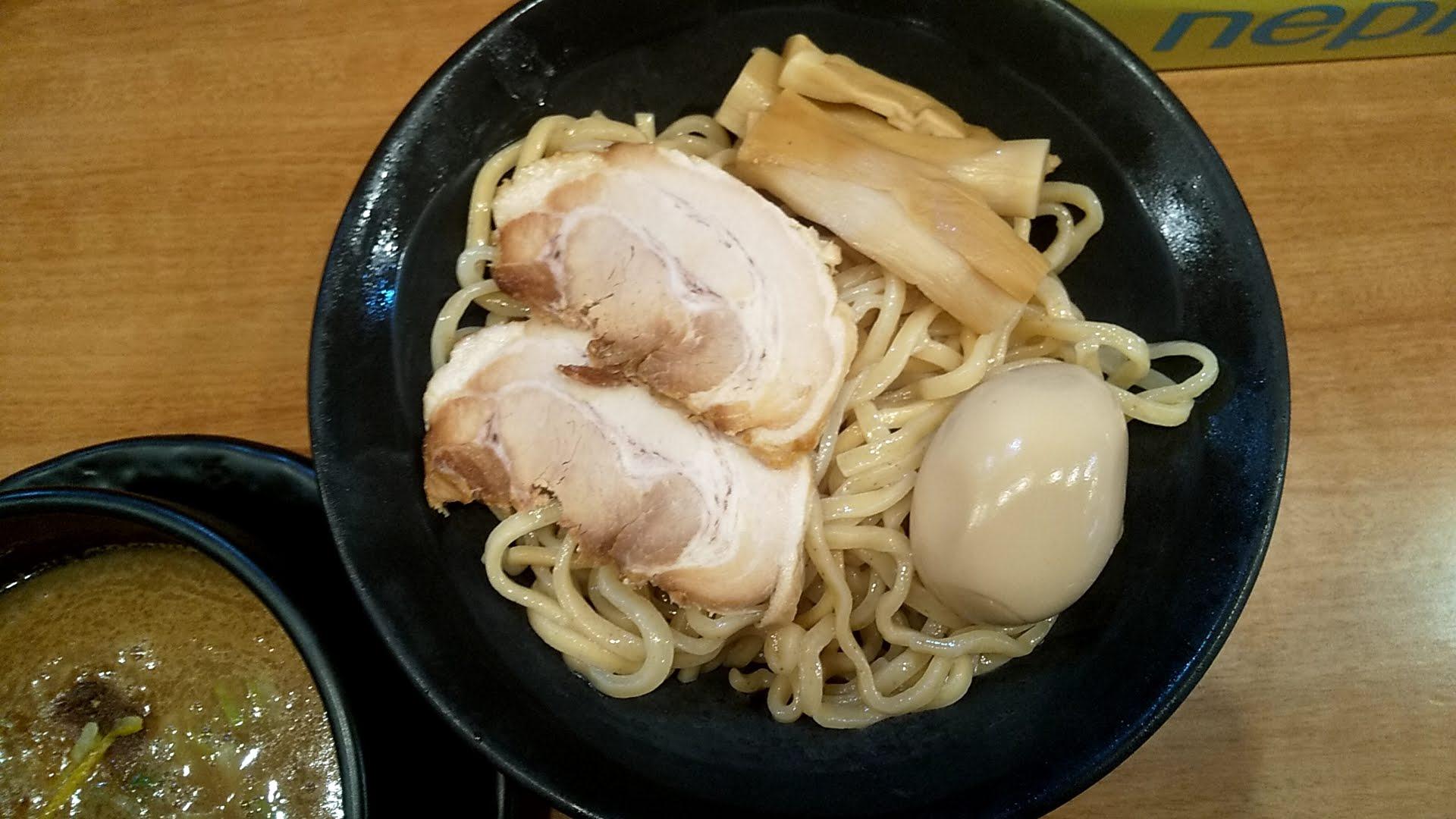 浅草家の魚介つけ麺SPの麺皿