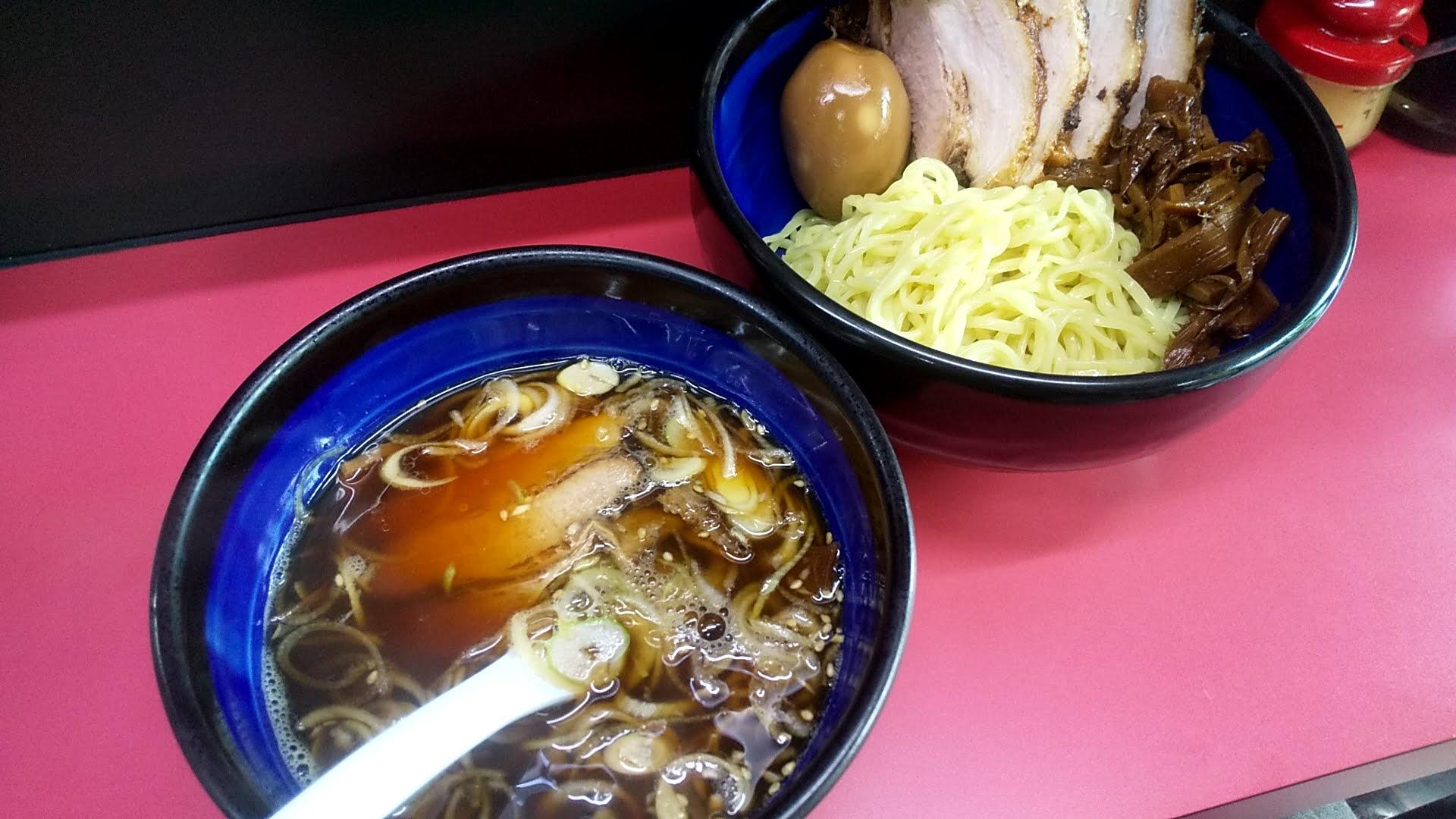 えどやの味玉めんまチャーシューつけ麺